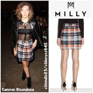Milly Pied De Poule plaid modern mini skirt 12